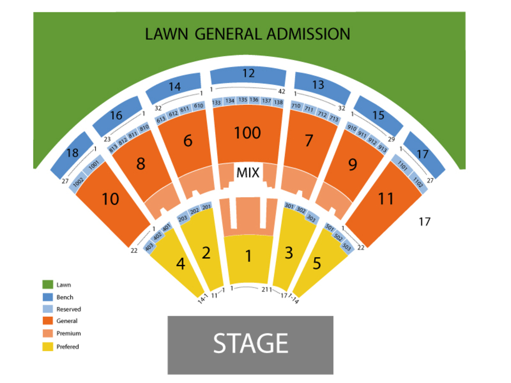 Darius Rucker and Lady Antebellum Venue Map