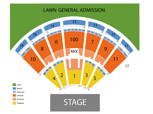 Dave Matthews Band with Fitz and The Tantrums Venue Map