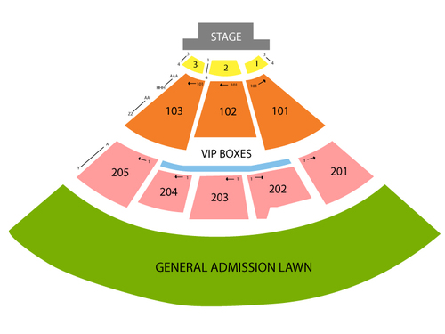 Fiddler's Green Amphitheatre Seating Chart