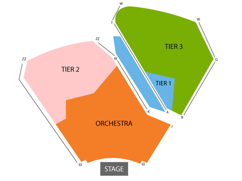 Pacific Symphony Orchestra: Rite of Strings Venue Map