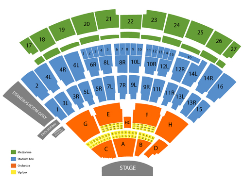 Nikon at Jones Beach Theater Seating Chart