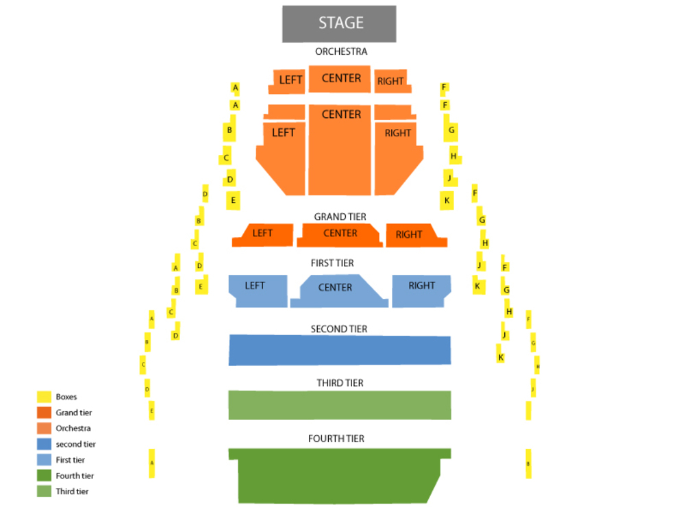 Seating Chart New Jersey Performing Arts Center