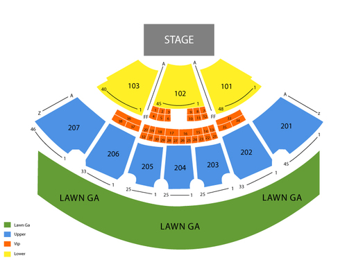 Sunlight Supply Amphitheater Seating Chart
