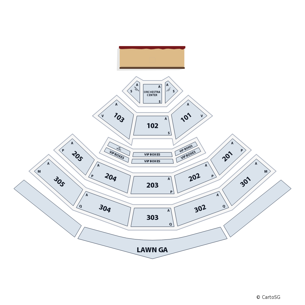 Tim McGraw Venue Map