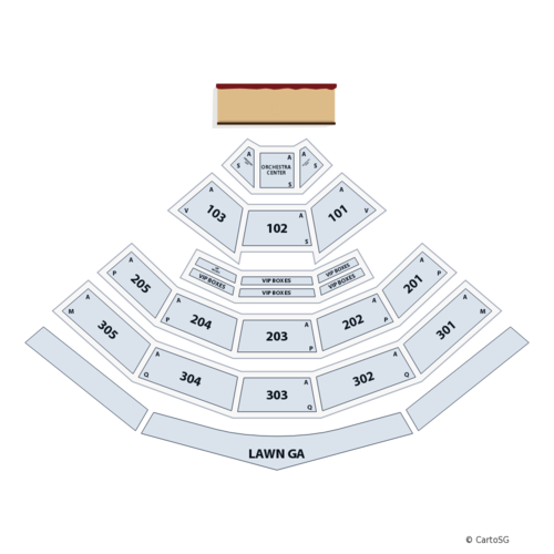 Heart with Joan Jett and Elle King Venue Map