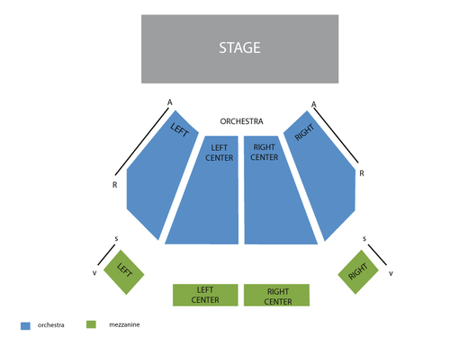 River Rock Show Theatre Seating Chart