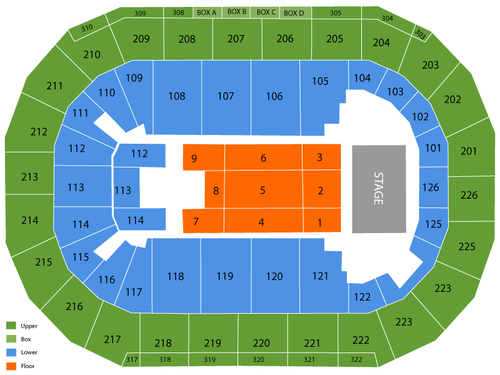 Mandalay Bay Events Center Seating Chart