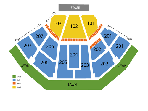 Lakewood amphitheatre seating chart events in atlanta ga