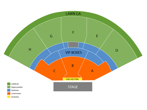 Dave Matthews Band with Brandi Carlile Venue Map