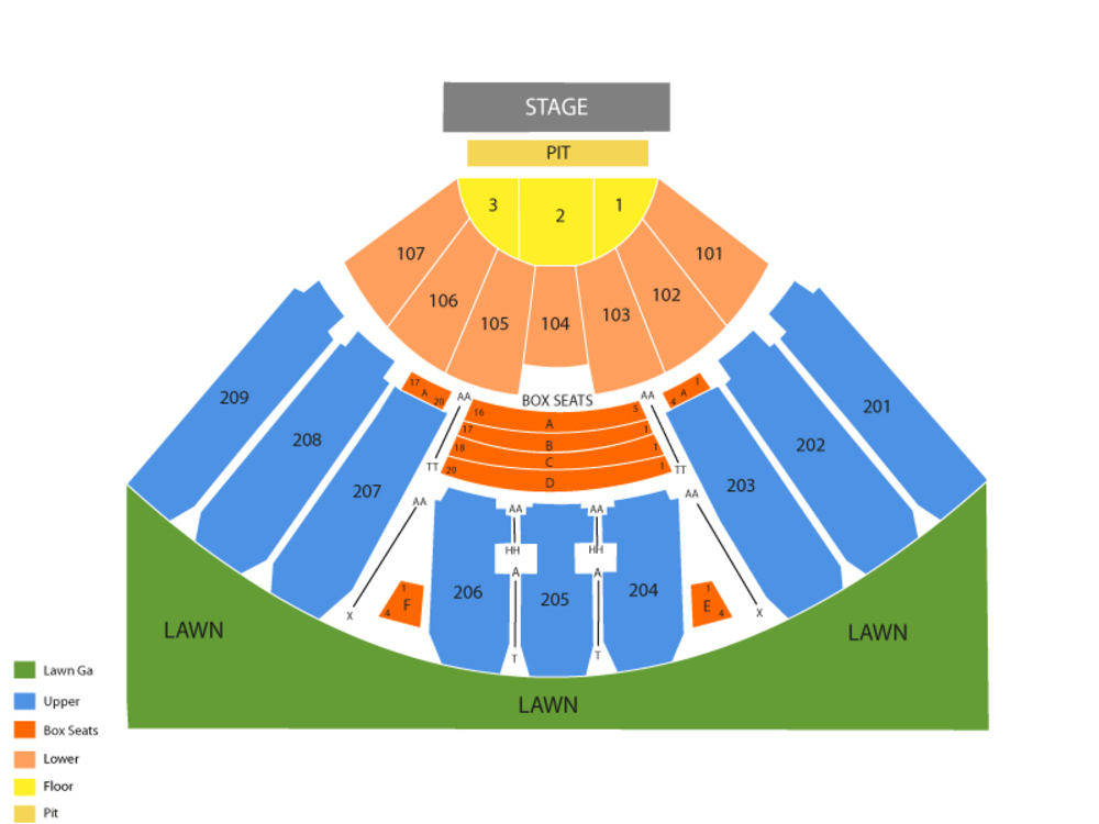 Luke Bryan (Rescheduled From 10/12) Venue Map