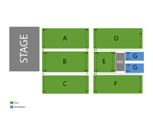 Merle Haggard Venue Map