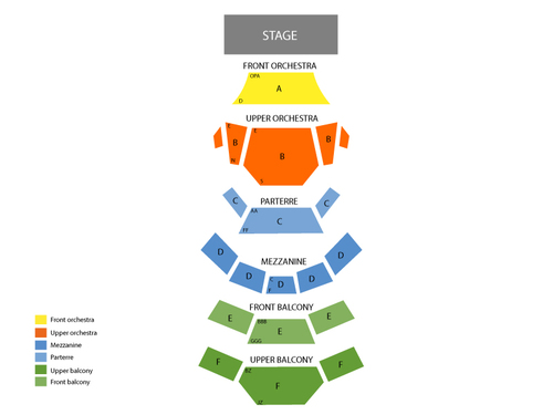 Muriel Kauffman Theatre - Kauffman Center for the Performing Arts Seating Chart