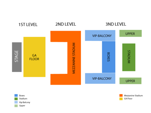The Joy Formidable Venue Map
