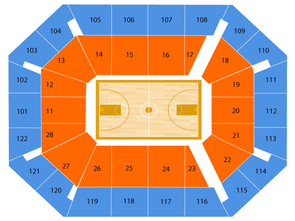 Basketball Hall of Fame Tip-Off Tournament Venue Map