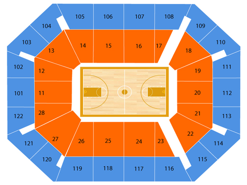 Los Angeles Sparks at Connecticut Sun Venue Map