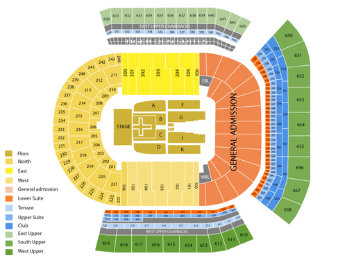 Bayou Country Superfest: George Strait Venue Map
