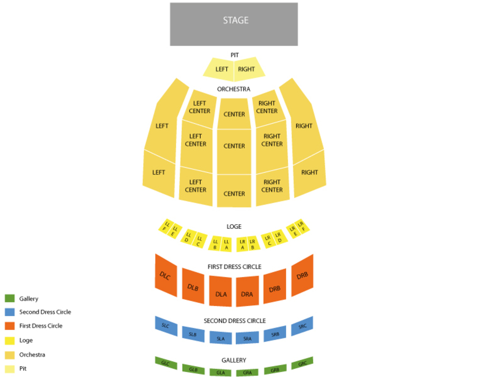 Fox Theatre Atlanta seating map and tickets