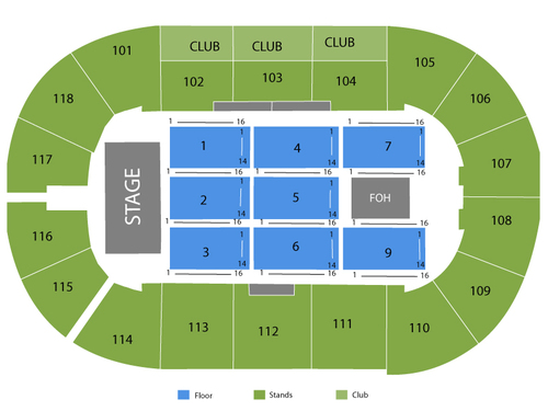 K-Rock Centre Seating Chart