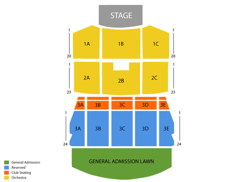 Darius Rucker with Rodney Atkins and Jana Kramer Venue Map