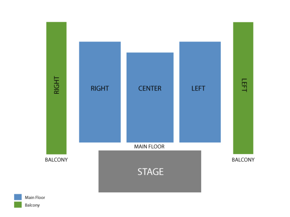 Social Distortion Venue Map