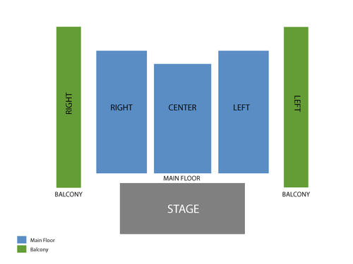 Michael Franti and Spearhead Venue Map