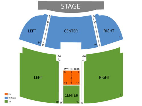 Larry The Cable Guy Venue Map