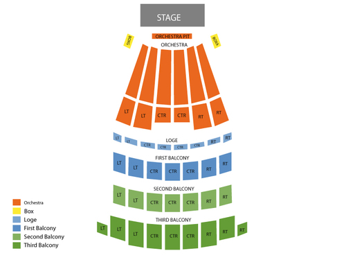 Shrine Auditorium Seating Chart