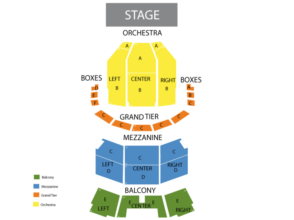 Ballet West - Swan Lake Venue Map