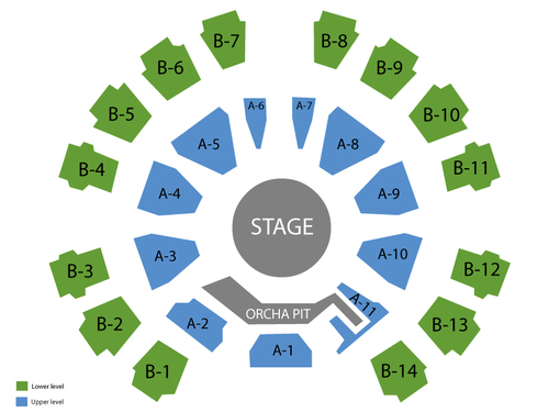 Celebrity Theatre Seating Chart