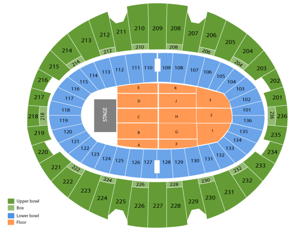 OneRepublic Venue Map