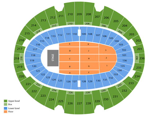 The Eagles Venue Map