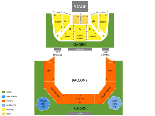 Animal Collective and Dan Deacon Venue Map