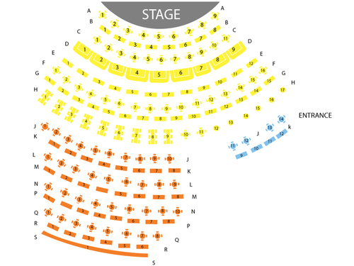 David Copperfield Theater – MGM Grand Casino (Las Vegas, NV) Seating Chart