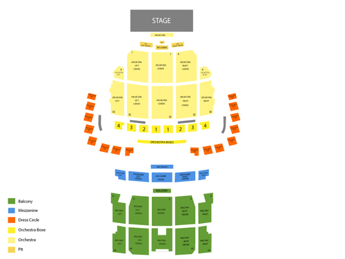 Wang Theatre at Citi Performing Arts Center Seating Chart