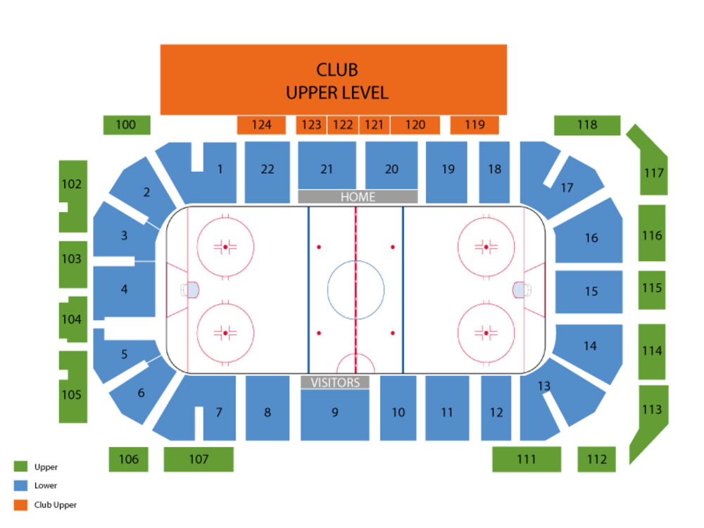 Minnesota Golden Gophers at Notre Dame Fighting Irish Hockey Venue Map