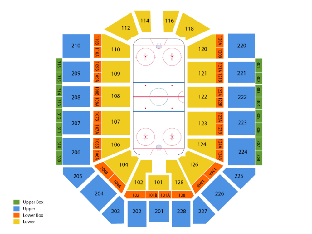 Chicago Wolves at Grand Rapids Griffins Venue Map