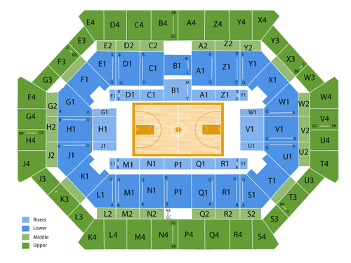 Donald L. Tucker Civic Center Seating Chart