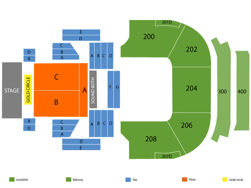 House of Blues - Las Vegas Seating Chart