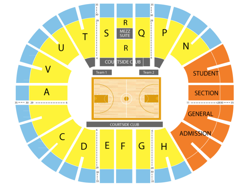 Brown Bears at San Diego State Aztecs Basketball Venue Map