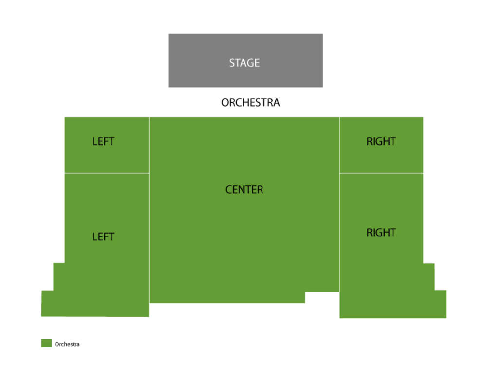 The Gazillion Bubble Show Venue Map