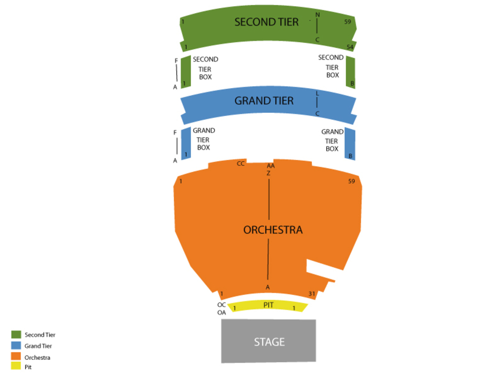 Shen Yun Performing Arts Venue Map