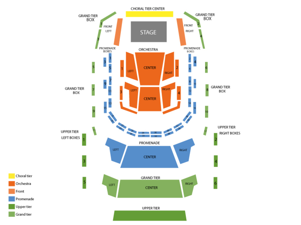 David Sedaris (Rescheduled from 11/21/2020) Venue Map