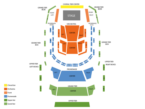 Music Center at Strathmore Seating Chart