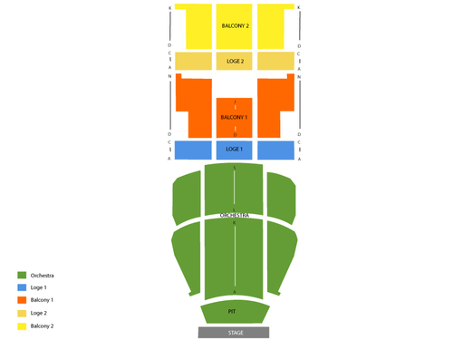 Carolina Theatre Seating Chart