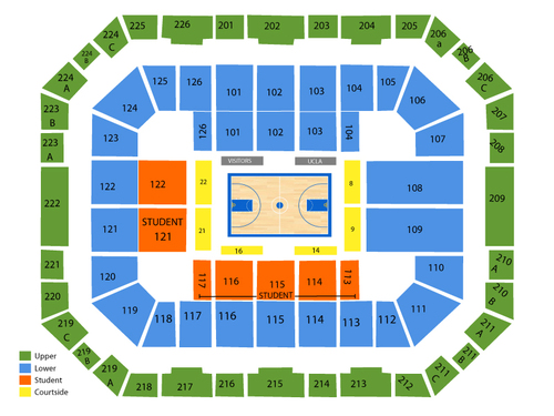 Pauley Pavilion Seating Chart