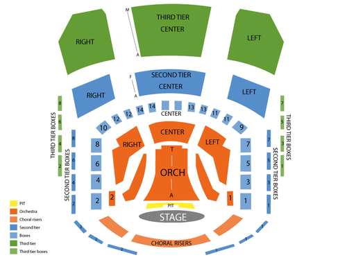 Knight Concert Hall (Adrienne Arsht Center) Seating Chart