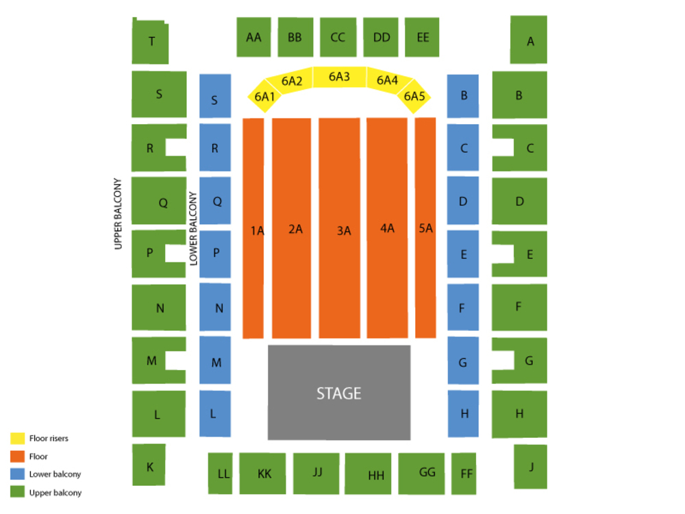 Bill Engvall Venue Map