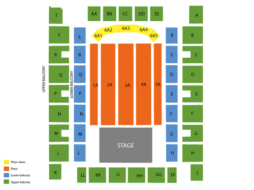 Knoxville Civic Auditorium and Coliseum Seating Chart