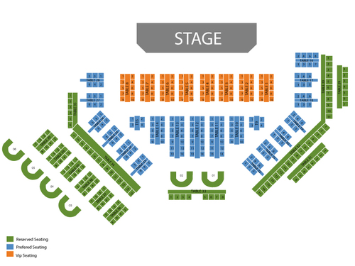 Thunder From Down Under Theatre - Excalibur Hotel & Casino Seating Chart