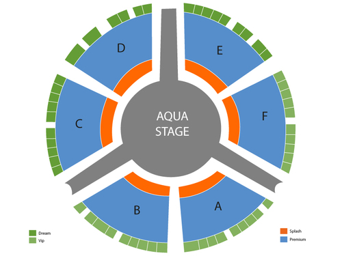 Le Reve Theater at the Wynn Seating Chart